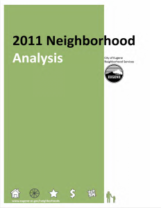 Neighborhood Analysis 2011 Frontpage Image