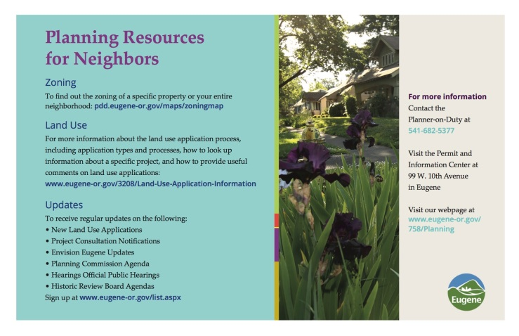 Planning Resources for Neighbors