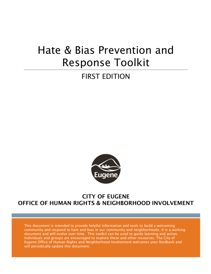 Toolkit_Hate and Bias Prevention Response