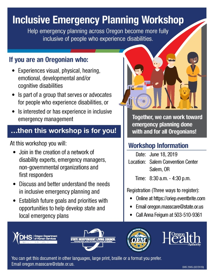 ENGLISH_Inclusive Emergency Planning Workshop Flyer