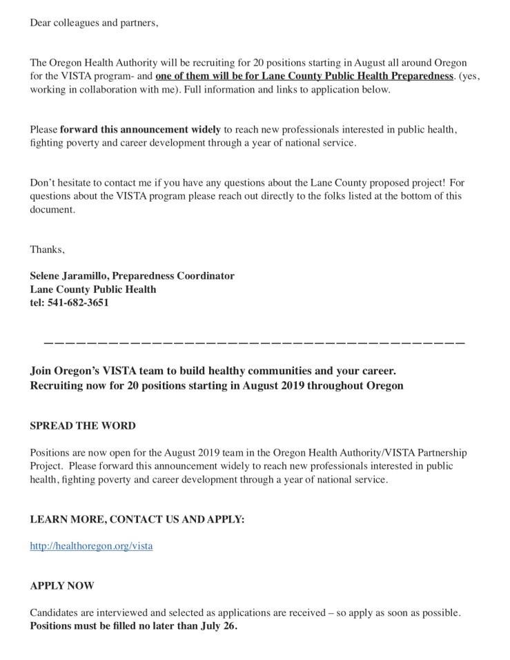 Lane County Public Health PreparednessPDF2-1