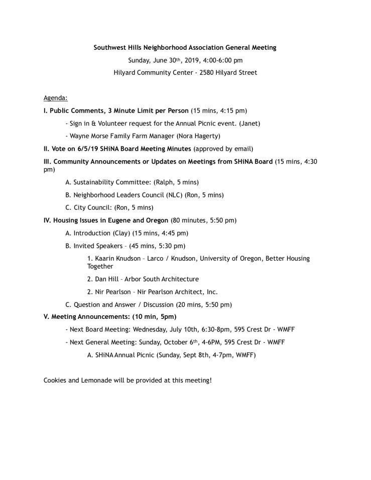 Southwest Hills Neighborhood Association General Meeting_6.30JPEG