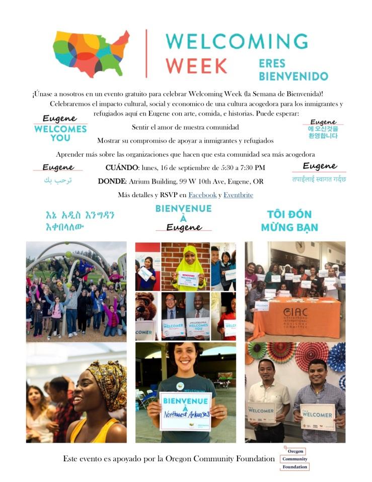 Welcoming Week 2019 Eugene (Esp)1
