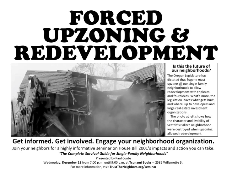 HB 2001 Seminar FLyer for Neighborhood Organizations1