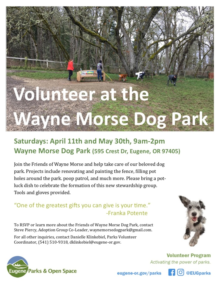 Friends of Wayne Morse Dog Park2020.04