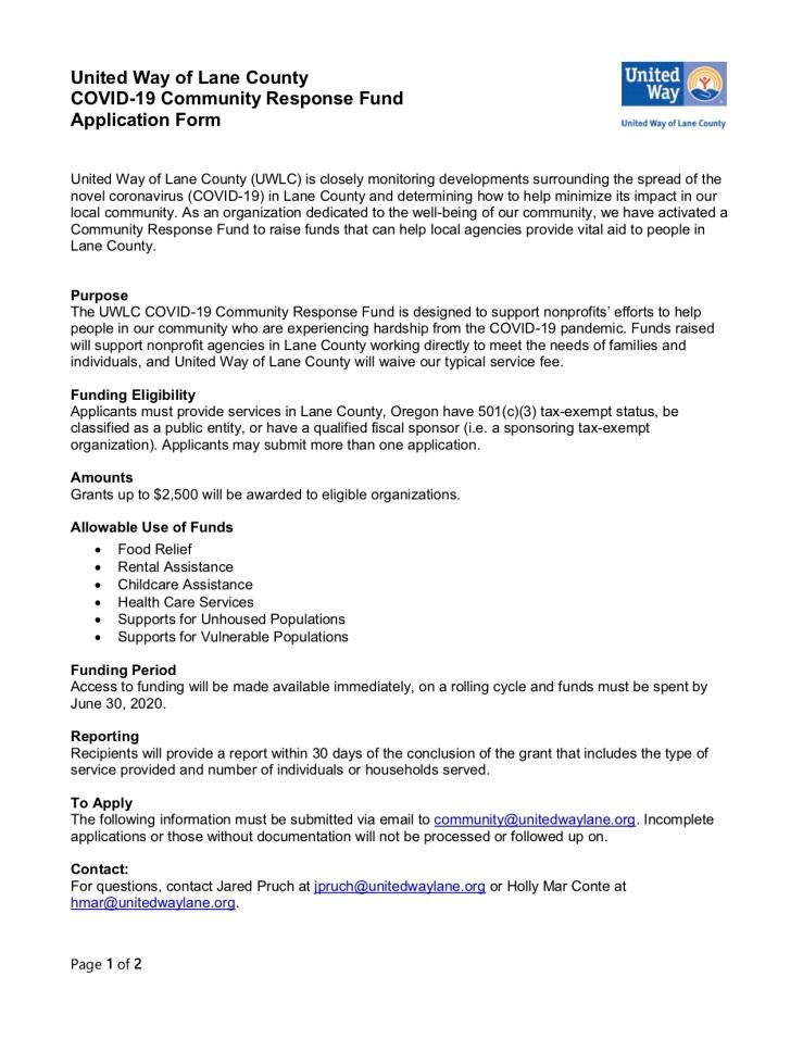 Community Response Fund Application FINAL 3.25.201