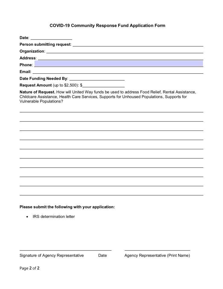 Community Response Fund Application FINAL 3.25.202