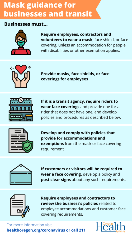 business mask requirements