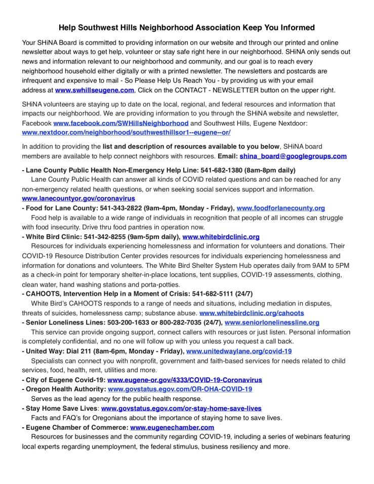 SHiNA May 2020 Newsletter33