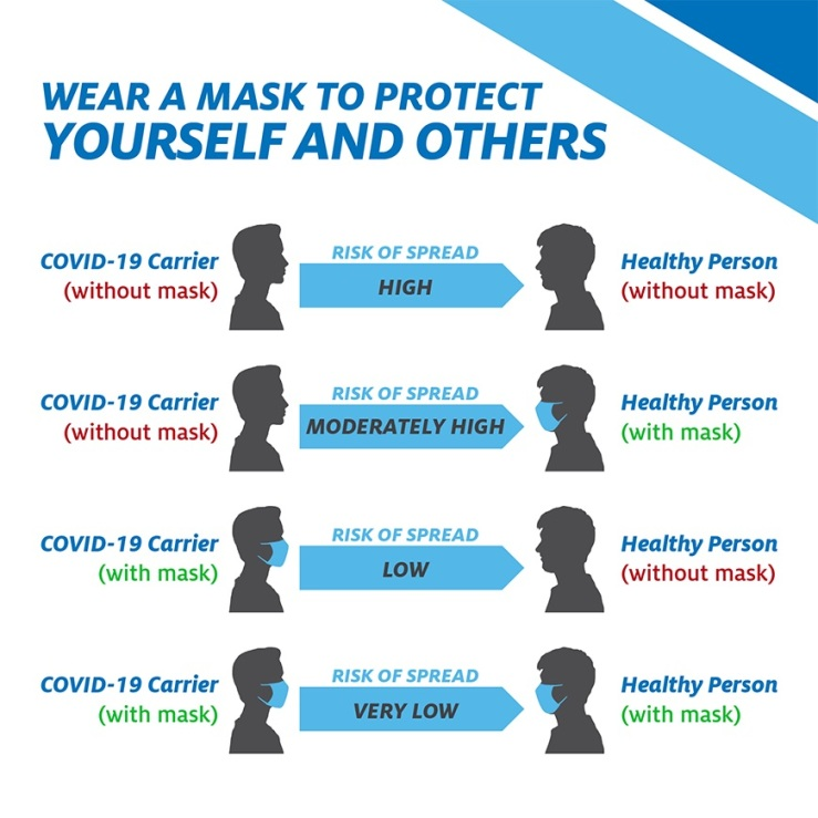 wearing a mask chart of risk factor1