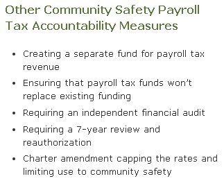 cpmmunity safety payrol tax accountability measures